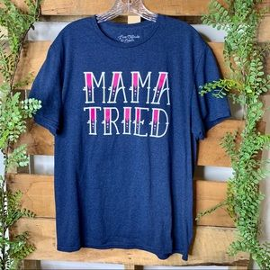 Live Outside The Limits | Navy Mama Tried T-shirt